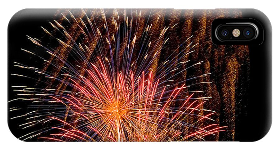 Fireworks IPhone X Case featuring the photograph Shower Of Fireworks by Devinder Sangha