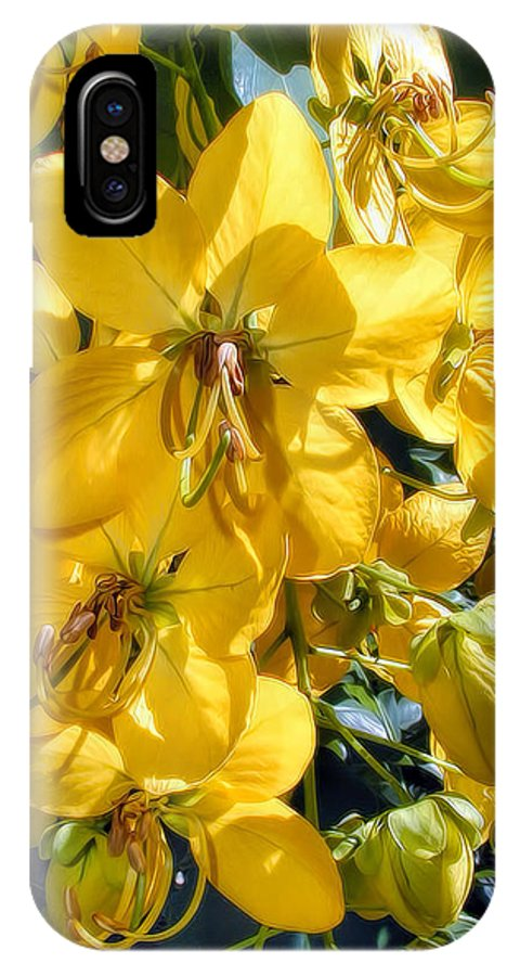 Hawaii IPhone X Case featuring the photograph Shower Tree 9 by Dawn Eshelman
