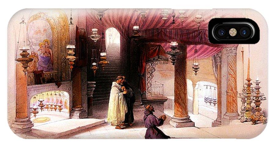 Bethlehem IPhone X Case featuring the photograph Shrine Of The Nativity Bethlehem April 6th 1839 by Munir Alawi