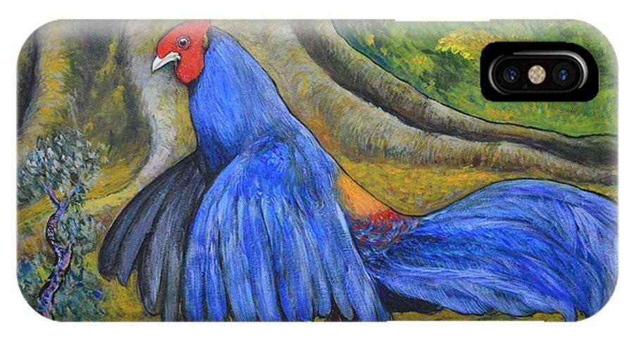 Siamese Fireback IPhone X Case featuring the painting Siamese Fireback by Wiriya Klinsaowakon
