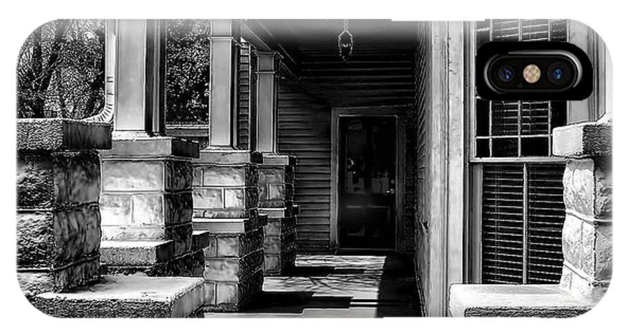 Side Porch IPhone X Case featuring the photograph Side Porch by Sherry Bowen