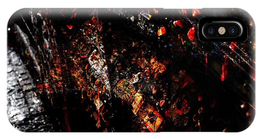 Gum IPhone X Case featuring the digital art Sidewall by Abby Kirsch