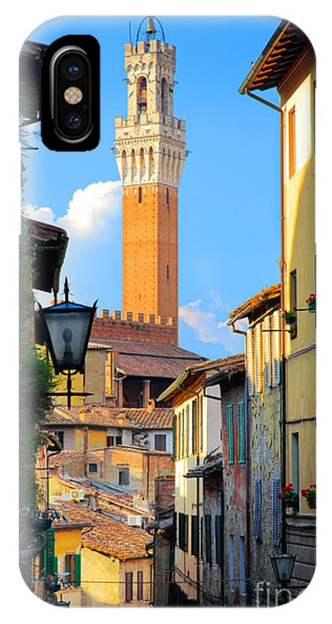 Europe IPhone X Case featuring the photograph Siena Streets by Inge Johnsson