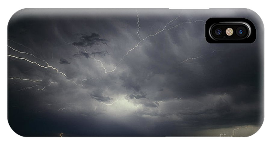 Lightning IPhone X Case featuring the photograph Sierra Blanca  Texas by J L Woody Wooden