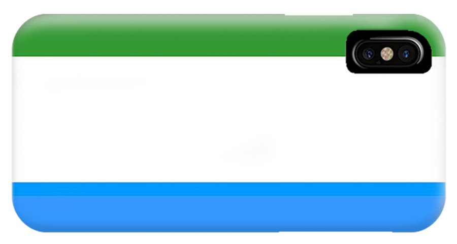Sierra Leone IPhone X Case featuring the digital art Sierra Leone Flag by Frederick Holiday