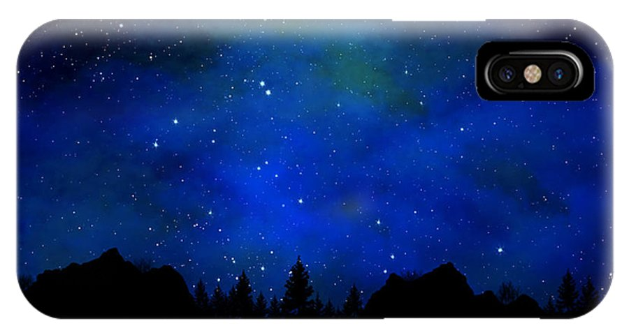 Sierra Nevada Wall Mural IPhone X Case featuring the painting Sierra Nevada Wall Mural by Frank Wilson