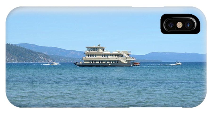 Yacht IPhone X Case featuring the photograph Sierra Rose Yacht On Lake Tahoe by Julie Doerges