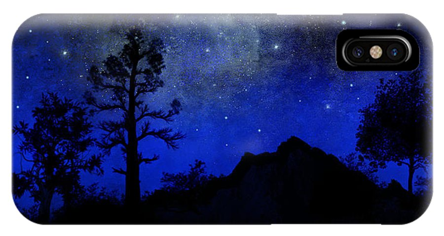 Sierra Silhouette IPhone X Case featuring the painting Sierra Silhouette Wall Mural by Frank Wilson