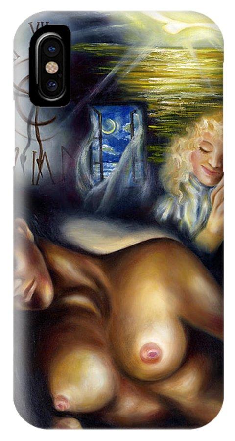 Siesta IPhone X Case featuring the painting Siesta by Hiroko Sakai