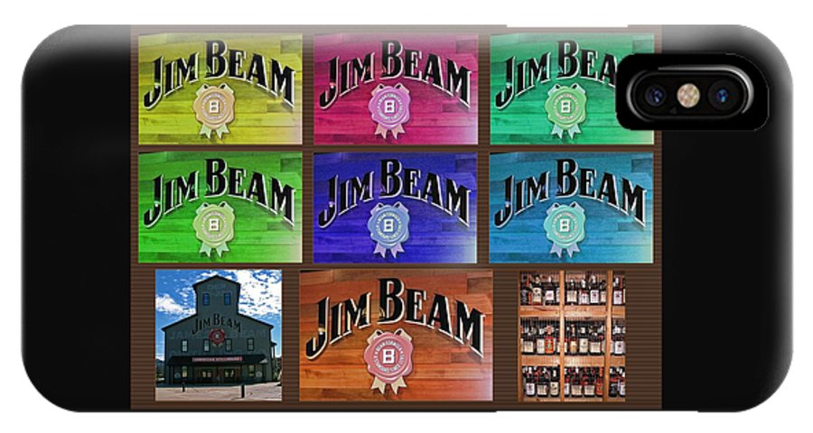 Computer Graphics IPhone X Case featuring the photograph Signs Of Jim Beam by Marian Bell