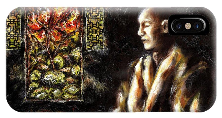 Zen IPhone Case featuring the painting Silence by Hiroko Sakai