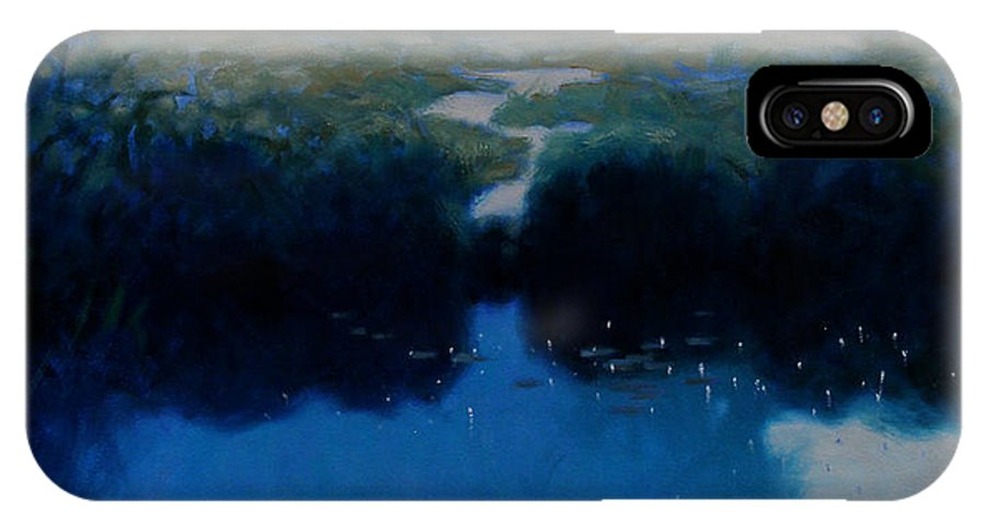 Landscape IPhone X Case featuring the painting Silence by Kevin Lawrence Leveque