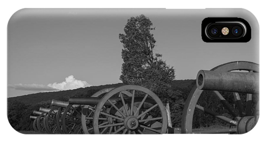 Cannon IPhone X Case featuring the photograph Silent Cannons by Michael Williams