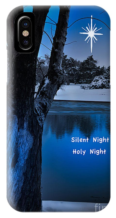 Landscape IPhone X Case featuring the photograph Silent Night by Betty LaRue
