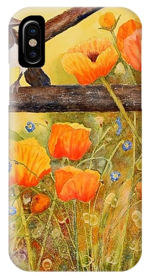 Watercolor IPhone X Case featuring the painting Silent Reverie by Heidi Searle