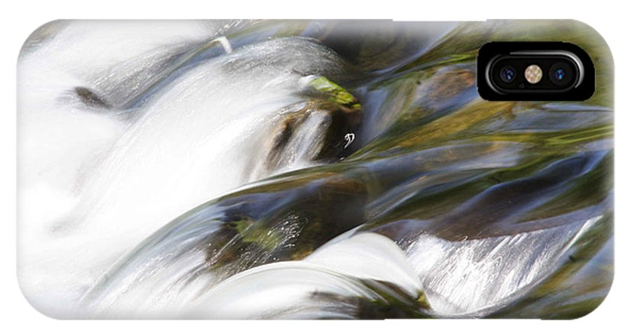 Water IPhone X Case featuring the photograph Silky Cascade by Jean Macaluso