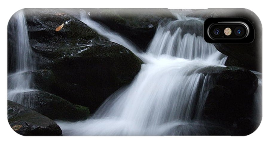 Baskins Creek IPhone X Case featuring the photograph Silky Waterfall by Steven Ellis