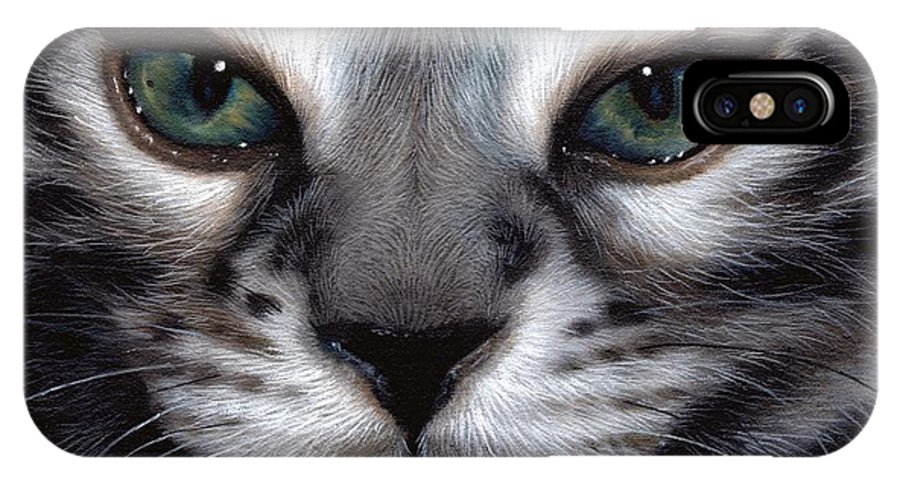 Silver Bengal Cat IPhone X Case
