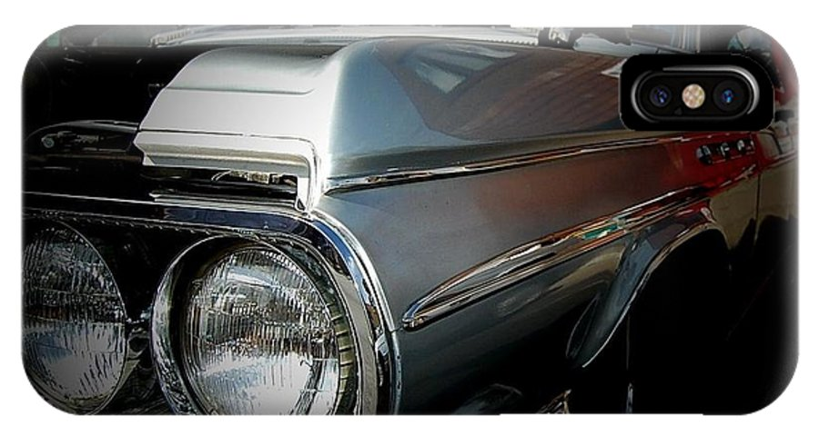 Car IPhone X Case featuring the photograph Silver Buick by Robert Bickerstaff