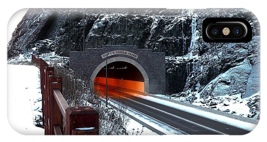 Tunnel IPhone X Case featuring the photograph Silver Creek Tunnel by Bryan Benson