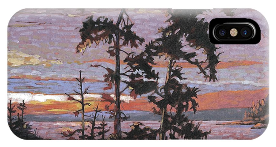 Group Of Seven Style Impressionist Canadian Painters IPhone X Case featuring the painting Silver Spray 3 by Rob Owen