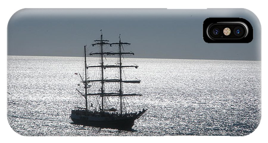 Ship IPhone X Case featuring the photograph Silver Sunset by Katherine White