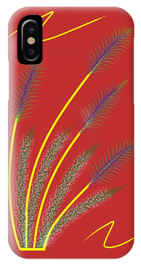 Abstract IPhone X Case featuring the digital art Simplicity by Gil Howard-Browne