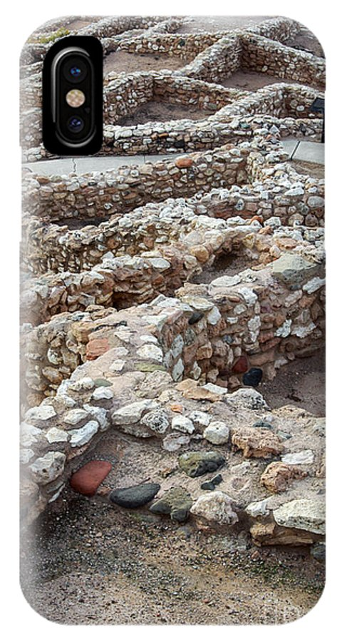 Tuzigoot National Monument Arizona Monuments Sinagua Indian Ruins Ruin Rock Rocks Stones Landscape Landscapes IPhone X Case featuring the photograph Sinagua Indian Ruins by Bob Phillips