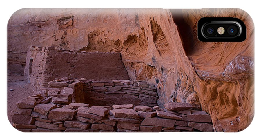 Arizona IPhone X Case featuring the photograph Sinagua Ruins I by Steve Wile