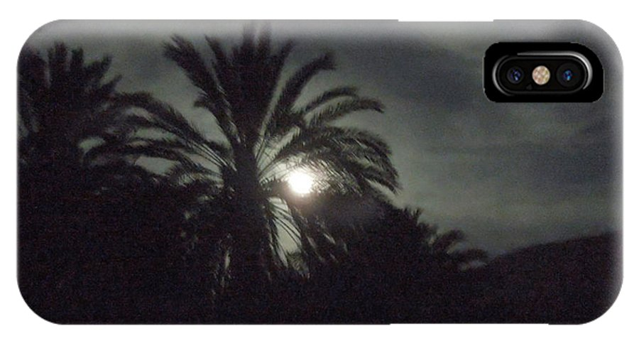 Colette IPhone X Case featuring the photograph Sinai Desert Fullmoon Egypt by Colette V Hera Guggenheim