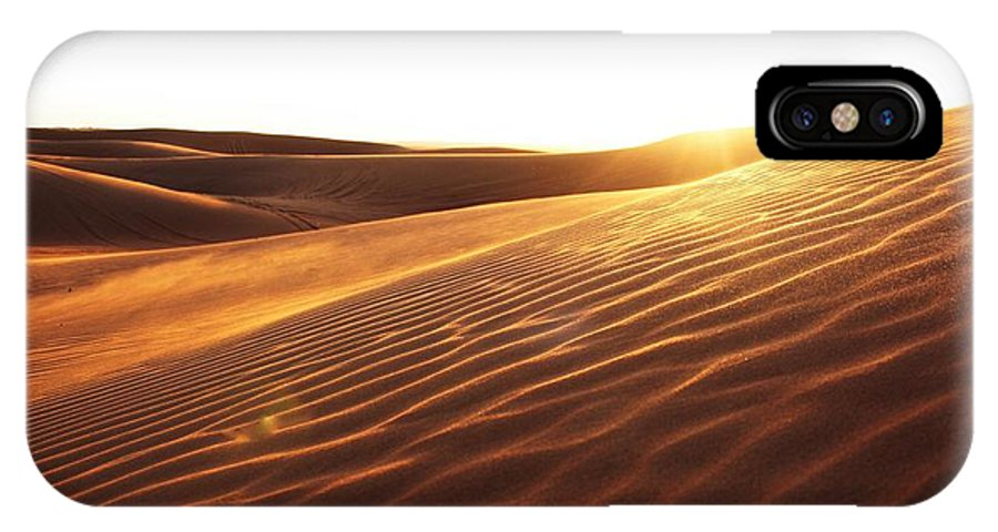 Landscape IPhone X Case featuring the photograph Sinai Sand Sea by Mark Charters