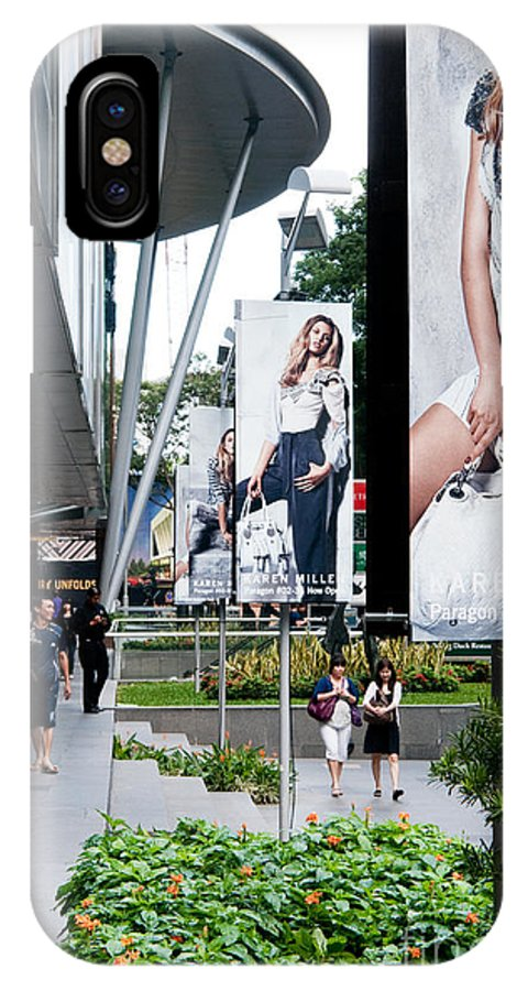 Singapore IPhone X Case featuring the photograph Singapore Orchard Road 02 by Rick Piper Photography