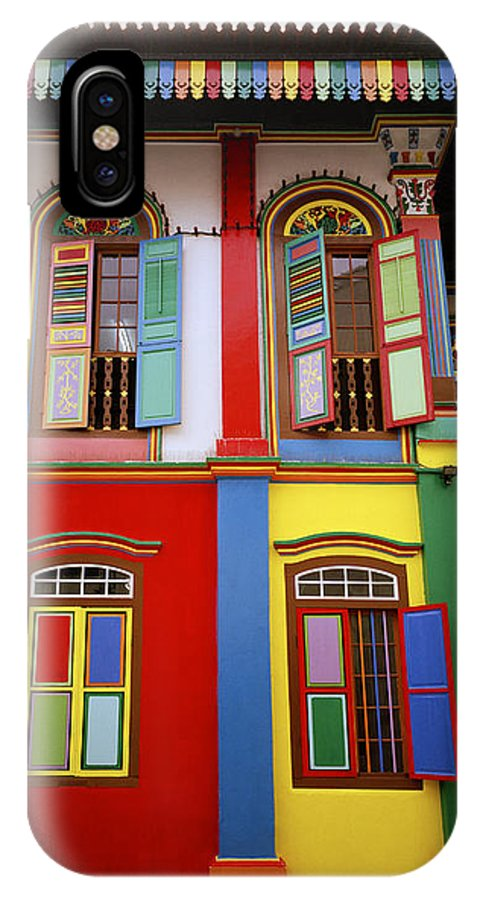Little India IPhone X Case featuring the photograph Singapore Surrealism by Shaun Higson