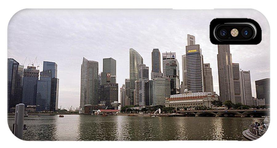 Marina IPhone X Case featuring the photograph Singapore's Marina Bay by Shaun Higson