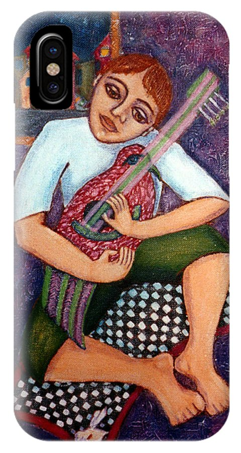 Children IPhone Case featuring the painting Singing Dreams by Madalena Lobao-Tello