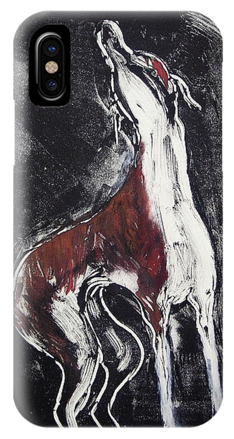 Framed IPhone X Case featuring the mixed media Singing For Joy by Cori Solomon