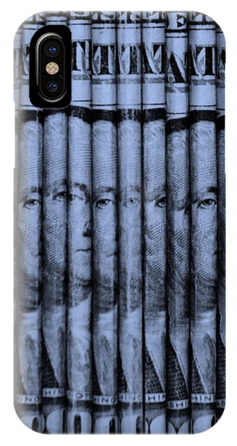 Money IPhone X Case featuring the photograph Singles In Cyan by Rob Hans