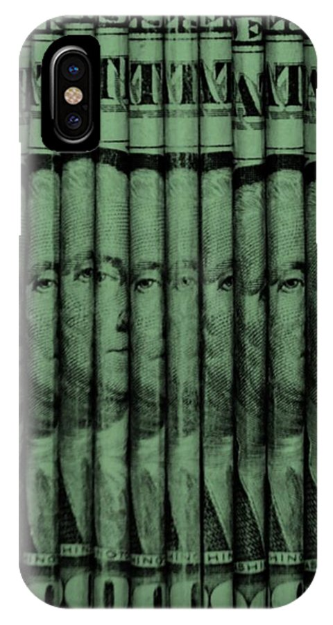 Money IPhone X Case featuring the photograph Singles In Light Green by Rob Hans