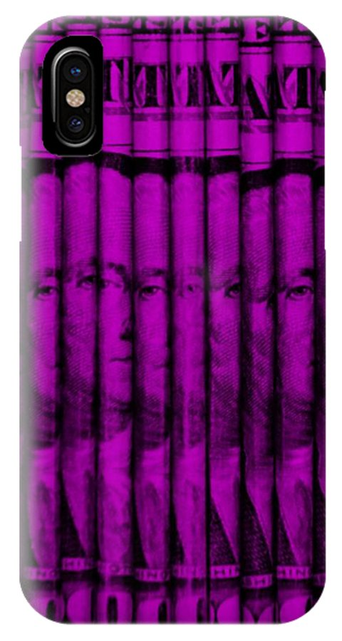 Money IPhone X Case featuring the photograph Singles In Purple by Rob Hans