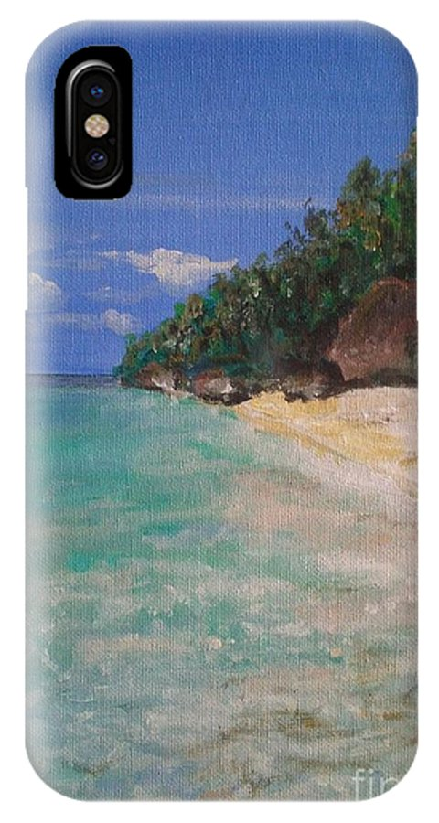 Philippines IPhone X Case featuring the painting Siquijor Beach by Richard John Holden RA