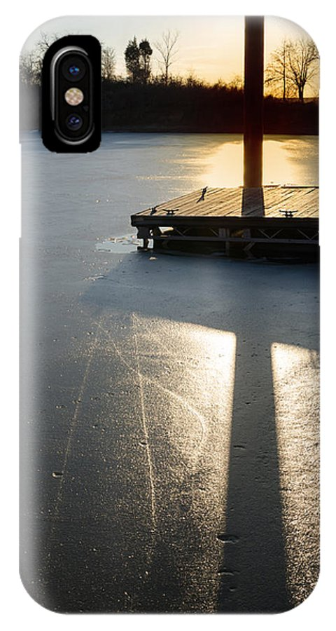 Sunset IPhone X Case featuring the photograph Sitting At The Dock by Diana Boyd