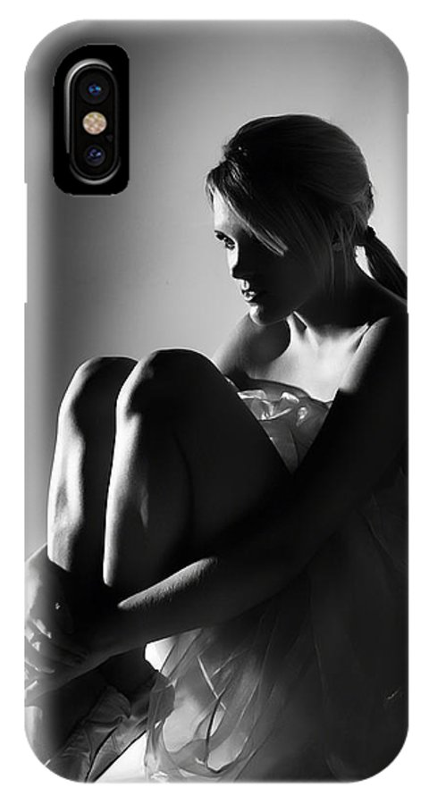 Woman IPhone X Case featuring the photograph Sitting Dancer by Dean Farrell