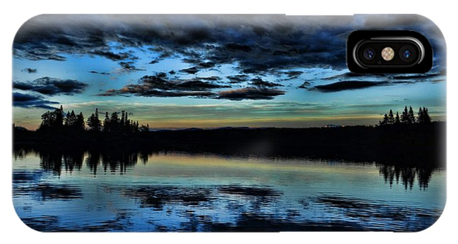 Great North IPhone X Case featuring the photograph Skies Of The Great North by Jes Fritze