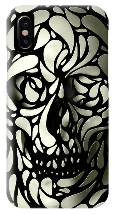 Skull IPhone X Case featuring the digital art Skull 4 by Ali Gulec