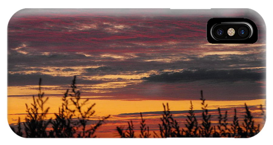 Landscape IPhone X Case featuring the photograph Sky Colours by Penny Homontowski