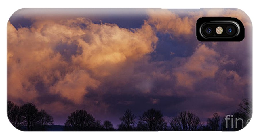 Storm Clouds IPhone X Case featuring the photograph Sky Drama by Thomas R Fletcher