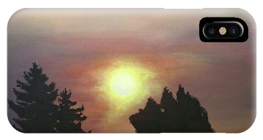 Sky IPhone X Case featuring the painting Sky-scape 4 by Kim Cyprian