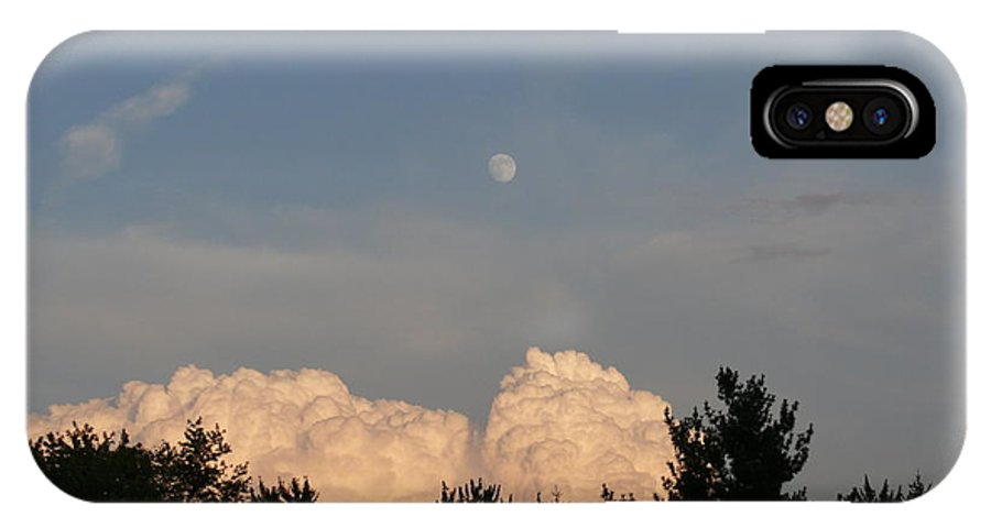 Sky IPhone X / XS Case featuring the photograph sky by Steven Woodard