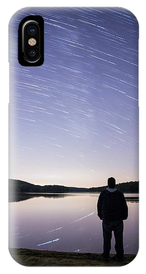 New Jersey IPhone X Case featuring the photograph Sky Trails by Kristopher Schoenleber
