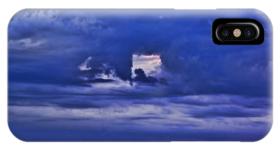 Clouds IPhone X Case featuring the photograph Sky Window by John Welling